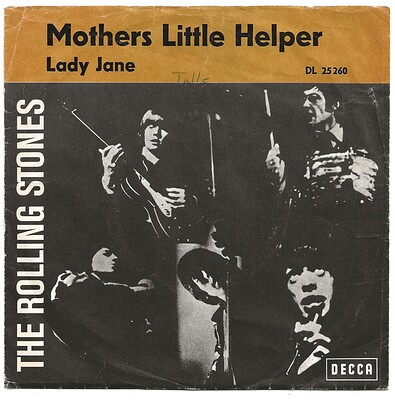 "ROLLING STONES, THE - MOTHER'S LITTLE HELPER / LADY JANE German ps, 2nd edition (7"")"