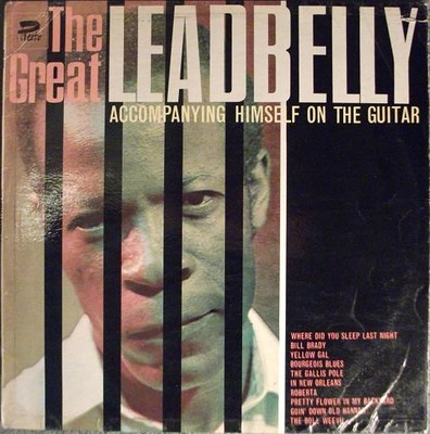 LEADBELLY - THE GREAT LEADBELLY ACCOMPANYING HIMSELF ON THE GUITAR UK 1965 compilation (LP)