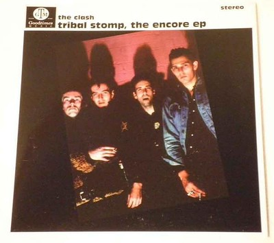 "CLASH, THE - TRIBAL STOMP, THE ENCORE EP Blue vinyl (7"")"