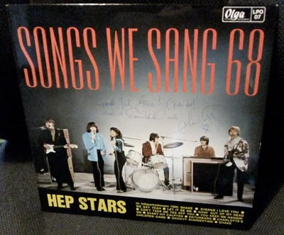 HEP STARS, THE - SONGS WE SANG 68 First edition. Signed with Christmas dedication on front by Svenne & Lotta! Great copy! (LP)