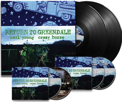 YOUNG, NEIL & CRAZY HORSE - RETURN TO GRENDALE Limited BOX SET Iincl Vinyl, CD, DVD, Blue Ray etc. in numbered box. (BOX)