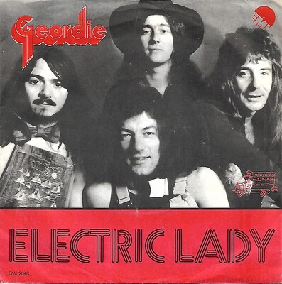 "GEORDIE - ELECTRIC LADY / GEORDIE STOMP Danish ps, Brian Johnson pre-AC/DC (7"")"
