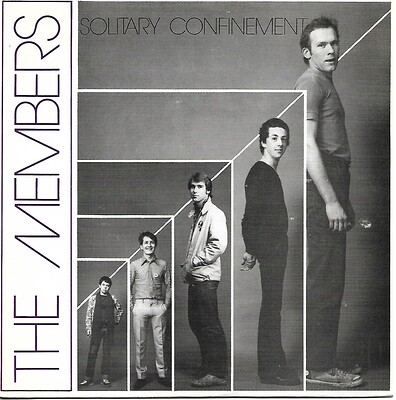"MEMBERS, THE - SOLITARY CONFINEMENT / RAT UP A DRAINPIPE UK ps (7"")"