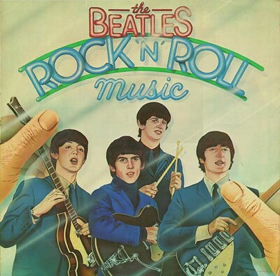 BEATLES, THE - ROCK ''N'' ROLL MUSIC 1976 compilation, double album, UK pressing (2LP)