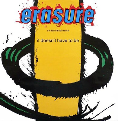 """ERASURE - IT DOESN'T HAVE TO BE UK ltd 12"""", L12 MUTE 56 (12"""")"""