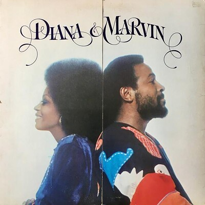 DIANA ROSS & MARVIN GAYE - DIANA & ROSS U.S. pressing, split fold-out sleeve (LP)