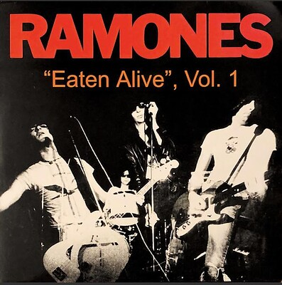 RAMONES - EATEN ALIVE, VOL. 1 Pink/splattered vinyl. Live November 14 1977, Four Acres Club, U.S. (LP)