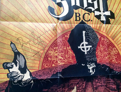 GHOST - INFESTISSUMAM with Poster signed by Papa Emeritus II. (CD)