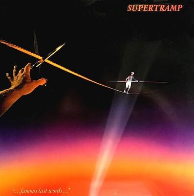 "SUPERTRAMP - ""...FAMOUS LAST WORDS..."" U.S. pressing, including ""It's raining again"" (LP)"