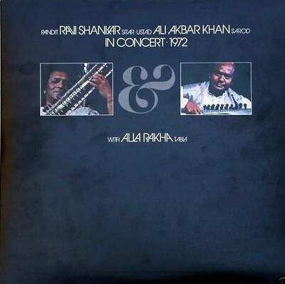 RAVI SHANKAR / ALI AKBAR KHAN - IN CONCERT 1972 Rare UK 1972 original, doubla album, Apple Records (2LP)