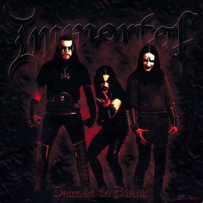 IMMORTAL - DAMNED IN BLACK reissue, gatefold (LP)
