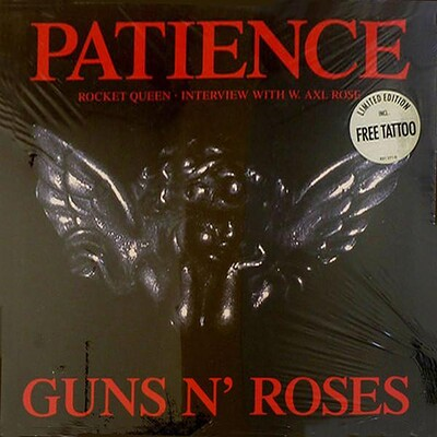 """GUNS N' ROSES - PATIENCE Rare German ltd edition 12"""", with tattoo! (12"""")"""