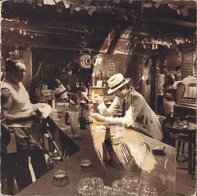 """LED ZEPPELIN - IN THROUGH THE OUT DOOR Scarce Scandinavian pressing, """"B"""" sleeve variant (LP)"""