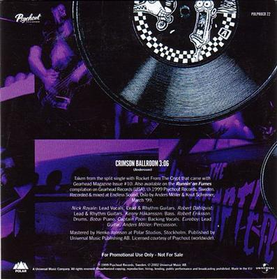 CRIMSON BALLROOM  1 track Radio promo in special cardboard p/s