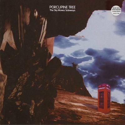 PORCUPINE TREE - THE SKY MOVES SIDEWAYS Original Uk blue vinyl with poster (LP)