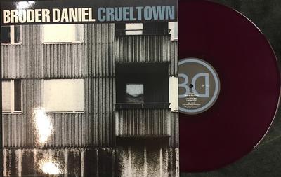 BRODER DANIEL - CRUEL TOWN Purple vinyl, Ultra rare, Slightly warped but do not affect playing (LP)