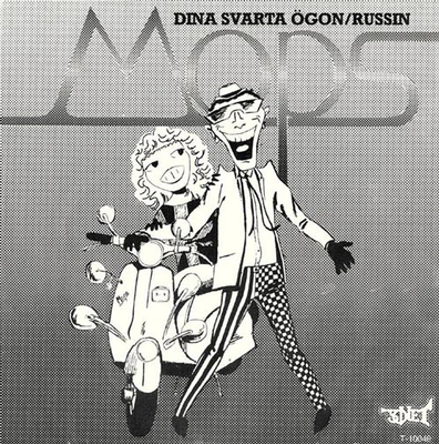 "MOPS - DINA SVARTA ÖGON / RUSSIN Great and rare swedish mod powerpop from 1981, One of the best singles. Unplayed copy! (7"")"