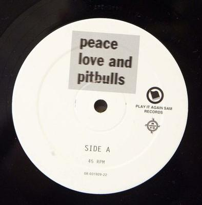 """PEACE, LOVE AND PITBULLS - HITCH HIKE TO MARS Belgium Ep, DJ/ Promo edition, Never released with picture sleeve (12"""")"""