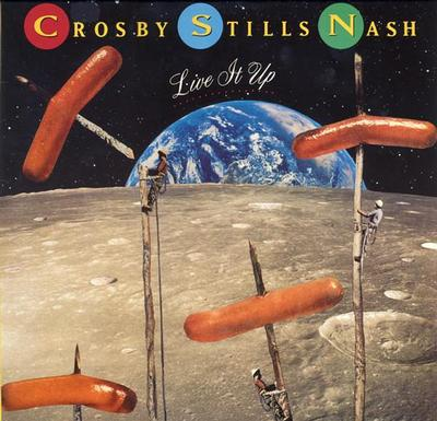 CROSBY, STILLS & NASH - LIVE IT UP German pressing (LP)