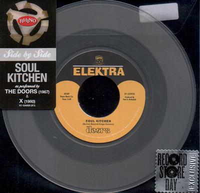 """DOORS, THE / X - SOUL KITCHEN """"side by side"""" split single RSD 2013 (7"""")"""