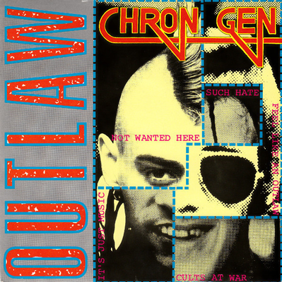 """CHRON GEN - OUTLAW UK punk on Secret, '82 (7"""")"""