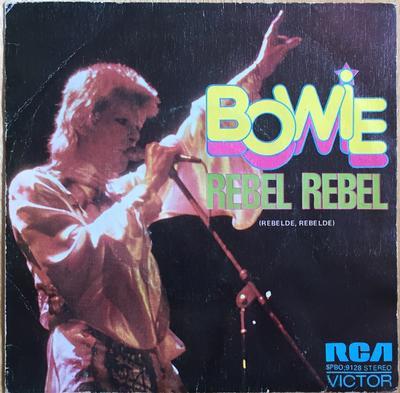 "BOWIE, DAVID - REBEL REBEL / QUEEN BITCH Rare Spanish Original (7"")"