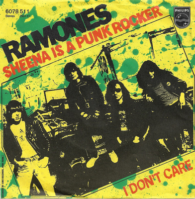 "RAMONES - SHEENA IS A PUNK ROCKER/ I don't care German, unique sleeve, Rare Philips (7"")"