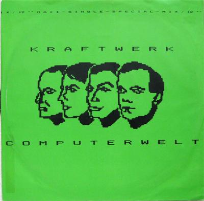 "KRAFTWERK - COMPUTERWELT German Original Pressing With Green Cover (12"")"