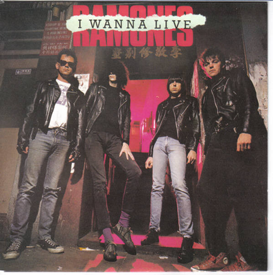 "RAMONES - I WANNA LIVE Dutch Only Release/Ps (7"")"