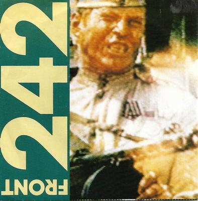 """FRONT 242 - NO SHUFFLE / BODY TO BODY Belgian ps, rare (7"""")"""