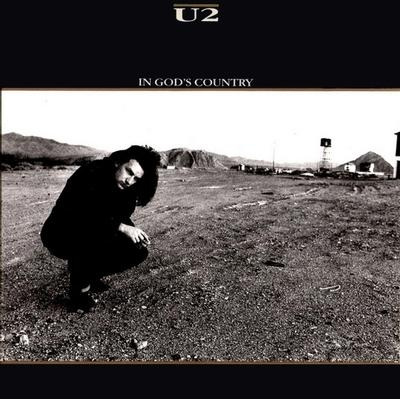 "U2 - IN GOD''S COUNTRY/Bullet the blue sky/ Running to stand still USA Ps (7"")"