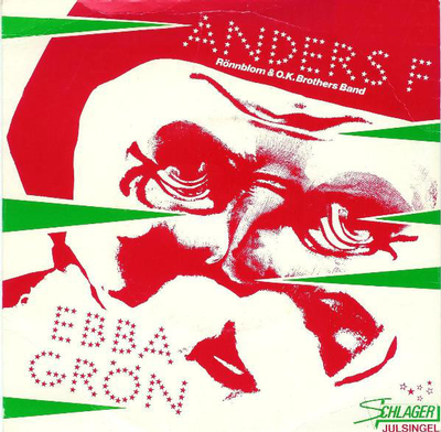 "EBBA GRÖN - SCHLAGER JULSINGEL ""Nu släckas tusen människoliv"" Rare freebie with music magazine from 1980. Exclus (7"")"