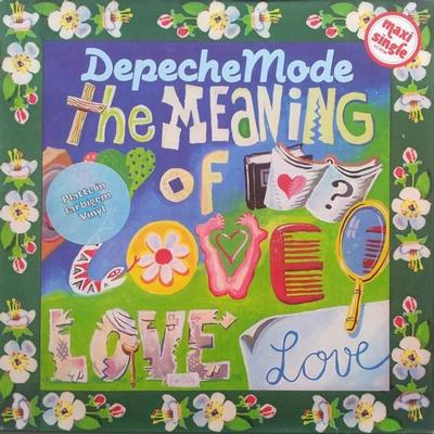 "DEPECHE MODE - MEANING OF LOVE Rare German yellow vinyl edition! (12"")"
