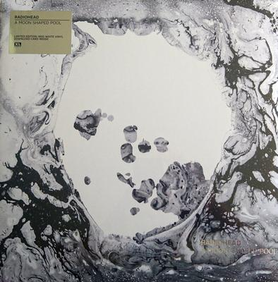 A MOON SHAPED POOL   Uk White Opaque vinyl, Lim. Ed. 9000
