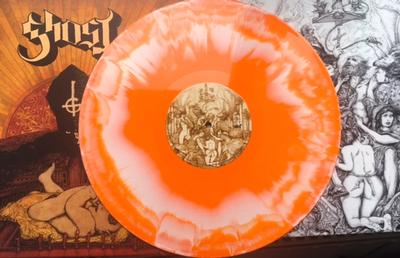 GHOST - INFESTISSUMAM Scandinavian only Orange-White Splatter vinyl & 12 pages booklet. (LP)