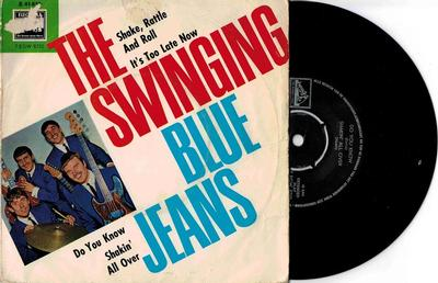 """THE SWINGING BLUE JEANS - SHAKE, RATTLE AND ROLL EP (Woc) (7"""")"""