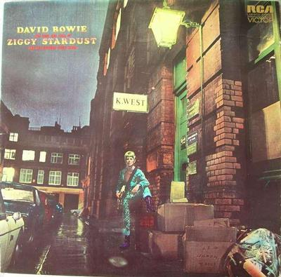 BOWIE, DAVID - THE RISE AND FALL OF ZIGGY STARDUST AND THE SPIDERS FROM MARS Rare German original! (LP)