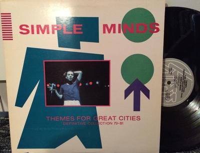 SIMPLE MINDS - THEMES FOR GREAT CITIES (DEFINITIVE COLLECTION 79-81) US Only Album (LP)