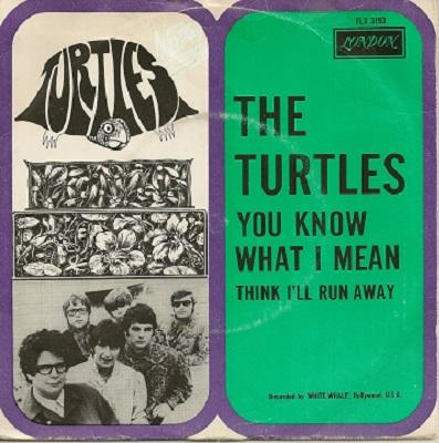 """TURTLES, THE - YOU KNOW WHAT I MEAN / Think I'll Run Away Dutch original (7"""")"""