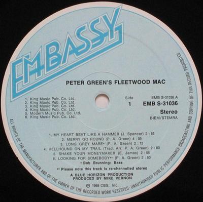 PETER GREEN''S FLEETWOOD MAC Dutch Pressing