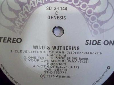 WIND & WUTHERING Canadian Pressing