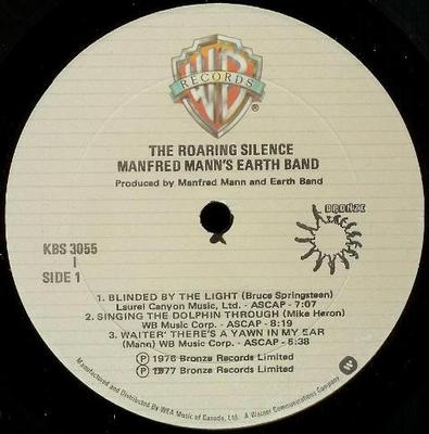 THE ROARING SILENCE Canadian Pressing