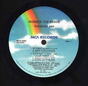 NUMBER THE BRAVE US Pressing