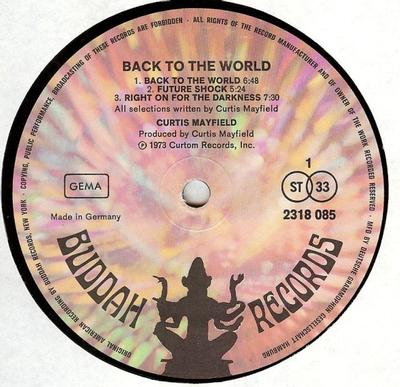 BACK TO THE WORLD German Pressing