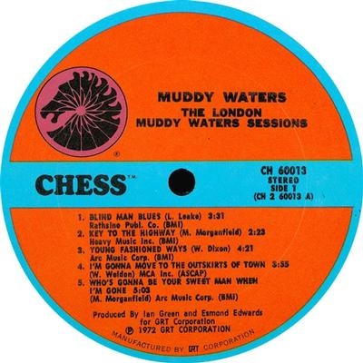 THE LONDON MUDDY WATERS SESSIONS US Pressing