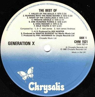 THE BEST OF GENERATION X UK Pressing