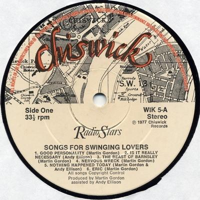 SONGS FOR SWINGING LOVERS Comes Additional 7'' Promo