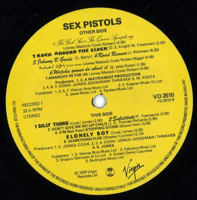 THE GREAT ROCK''N''ROLL SWINDLE UK Original Pressing