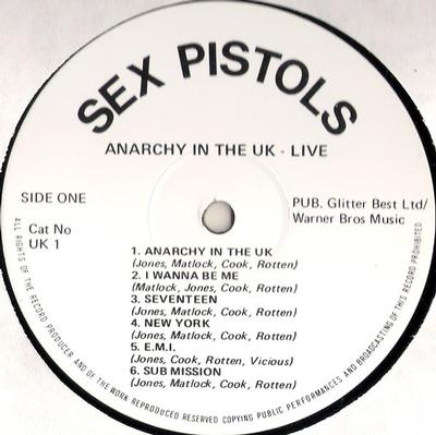 ANARCHY IN THE UK - LIVE Unofficial Release
