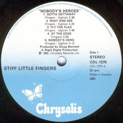 NOBODY''S HEROES Swedish Pressing